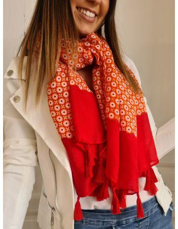 Foulard Clara rouge